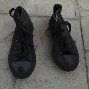 Converse black sneakers size 1